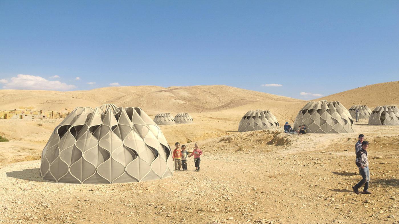 tejido estructural para refugiados